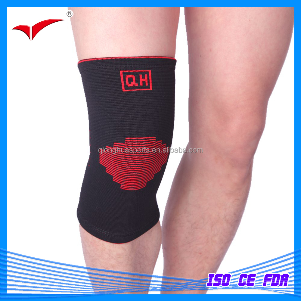 QH-863 Medical / Sport Professional knited knee Support /Strap /Brace/ Pad /protector knee pad Badminton Basketball