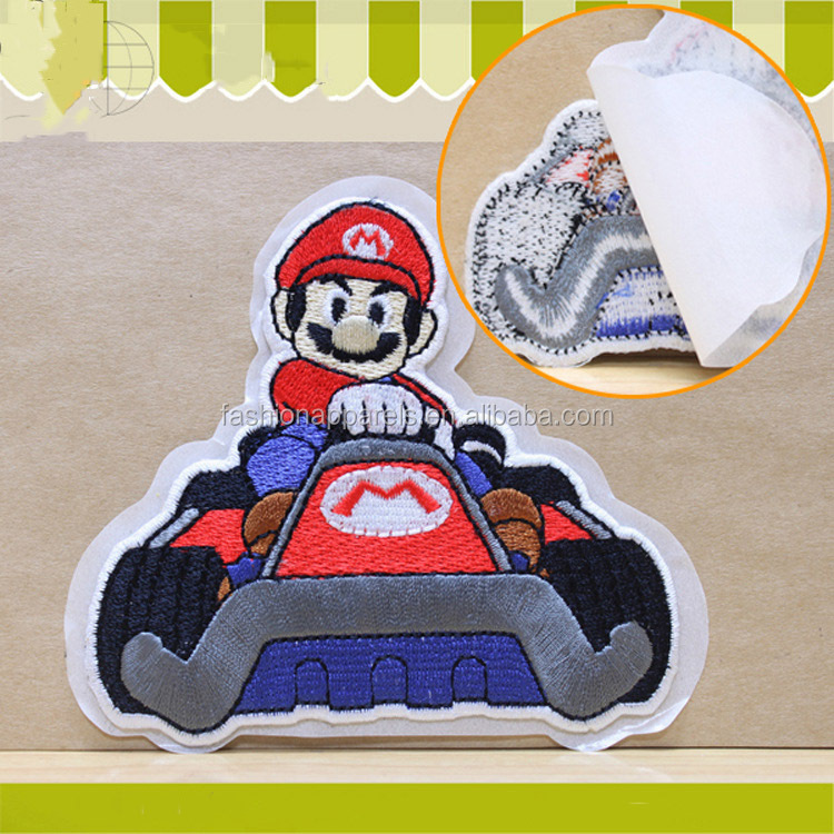 Latest high quality self-adhesive embroidery patches customized for garment