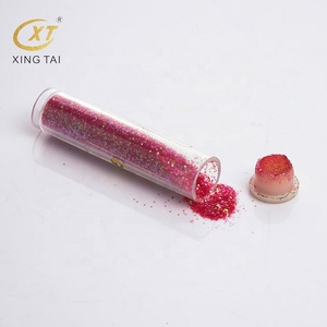 PET eco-friendly colorful Craft glitter powder for nail art and cosmetic decoration
