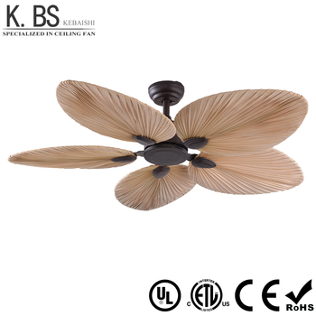 Whole Natural Style Fancy Palm Leaf Blade Fan Light Decorative Ceiling With And Remote