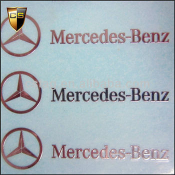 Mercedes benz dedicated trademarks metal stickers buy for A mercedes benz product sticker