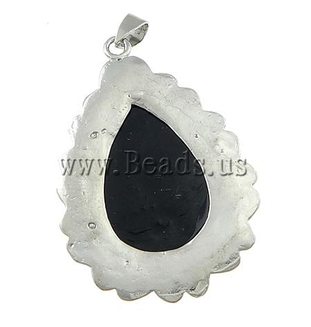 Free shipping!!!Shell Pendants,Clearance, Teardrop, plated, platinum color, 35x51x5mm, Hole:Approx 4x7mm, 10PCs/Lot, Sold By Lot