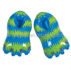 Customized funny Inflatable feet for kids plastic display air shoes for sale