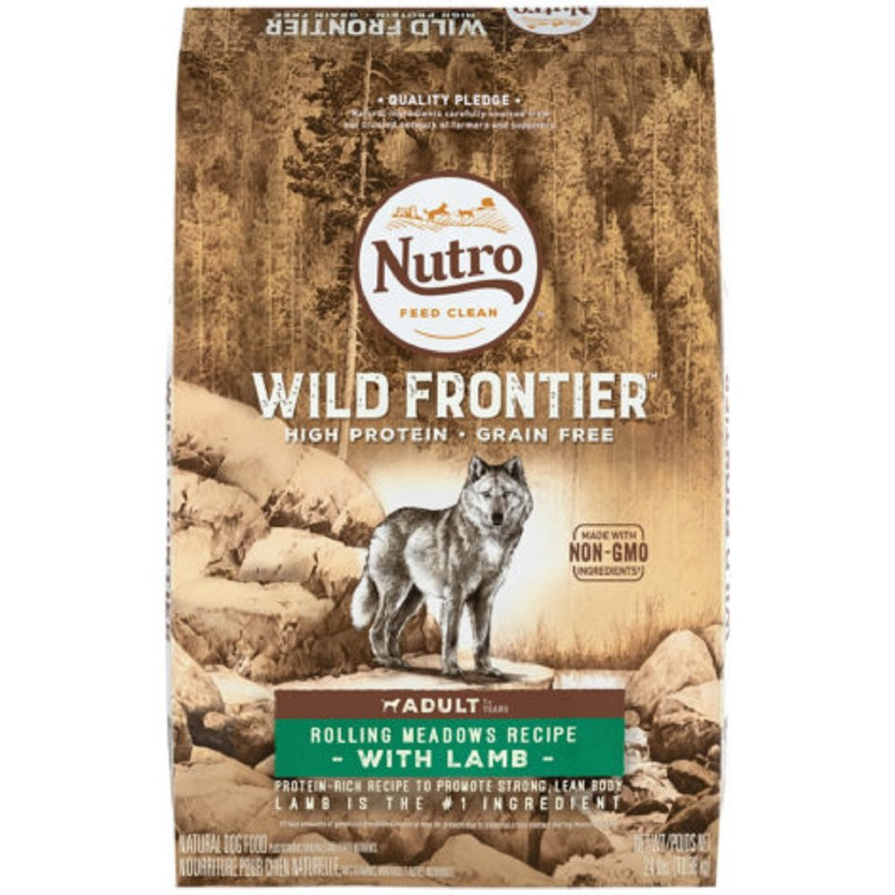 Nutro Feed Clean Wholesome Essentials Wild Frontier Grain-Free Lamb Adult Dog Food - 4 lbs.