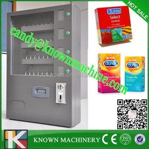 4 selections sanitary pads vending machine with coin acceptor