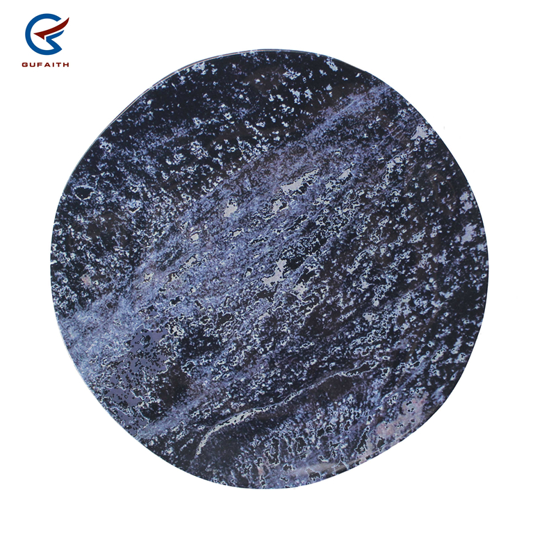 New design 10 inch decorative sublimation plastic plate black marble melamine plates made in china