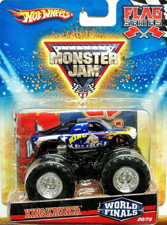 Hot Wheels Monster Jam 2010 King Krunch World Finals, Flag Series #20/75, 1:64 Scale (Small Truck)