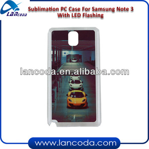Sublimation LED Flashing Phone Case for Samsung Galaxy Note 3
