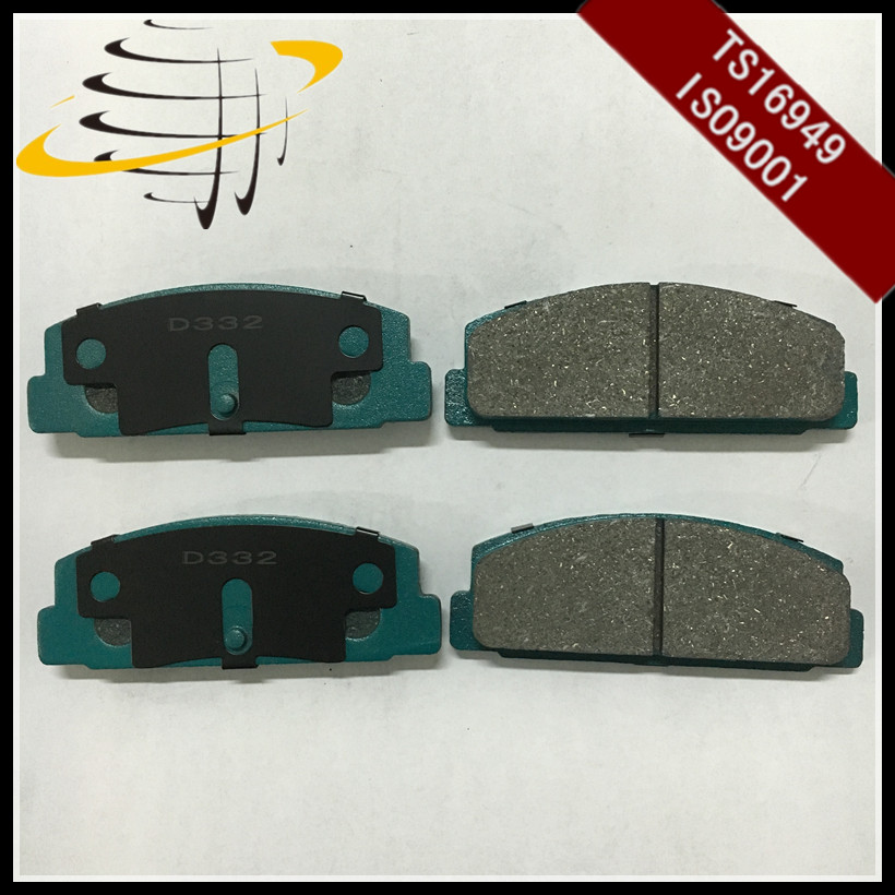 High performance D332 D283 D482 disc brake pad for MAZDA FB06-49-280