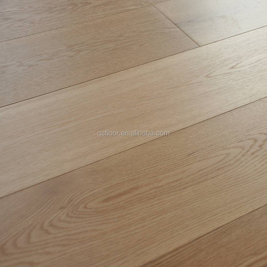 Light Color Oak Engineered Flooring 3 Ply Wooden Boards