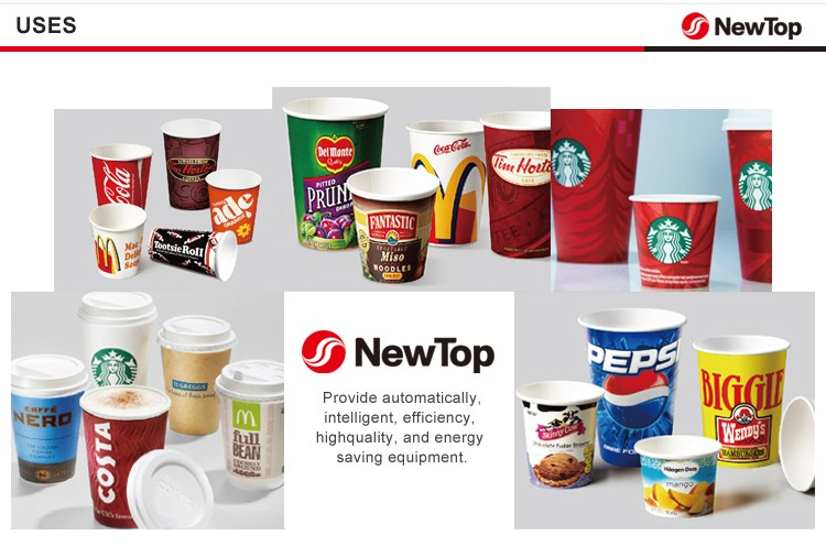 NewTop 2020 100-120 pcs/min Intelligent Automatic Paper Cup Making Forming Machinery For Hot Drinking Cup
