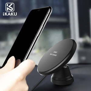 2018 new arrivals small usb universal fantasy qi wireless car charger phone holder magnetic car mount for iphone x