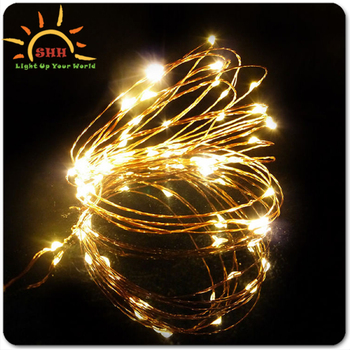Copper Wire Led Light Up String Lights With Different Shape ...