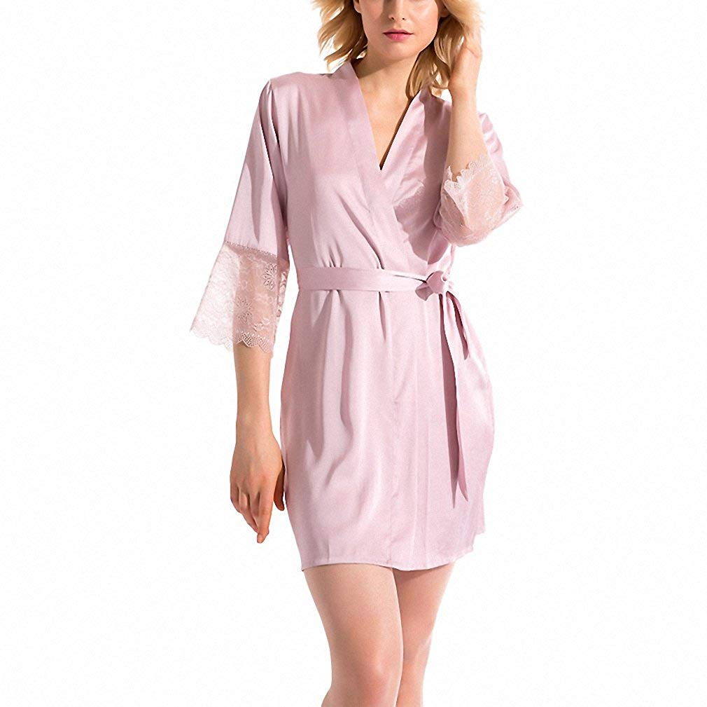 84b97b2d37 Get Quotations · Summer Dress Silk Robe Women s Pajamas Sexy Bathrobe  Dressing Gowns For Women Mantle Lingerie Pajamas And