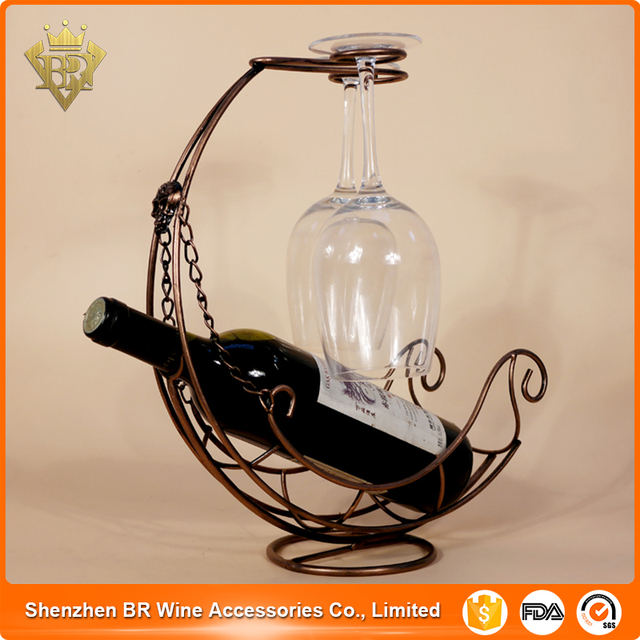 Whole Pirate Ship Design Wine Rack With Single Bottle And 2 Gl