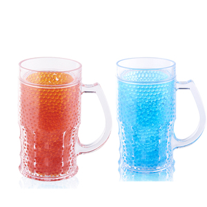 BG-0004 oem hot products mighty freezer glass like beer gel mugs for sublimation