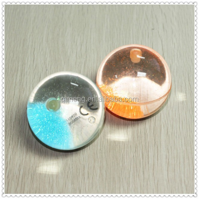 65MM TPU water bouncing ball with glitter inside for promotion toys