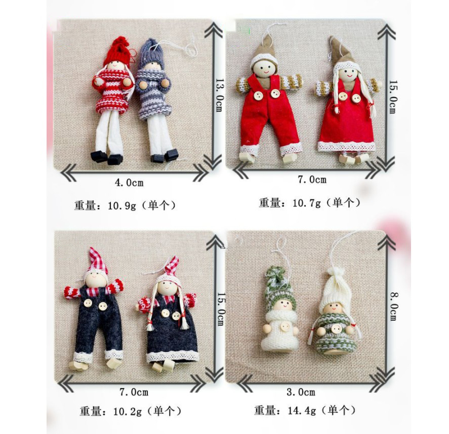 Christmas Doll For Christmas Party Decoration Cute Doll's Accessories China Manufacturers Selling Cloth Made Christmas Ornament