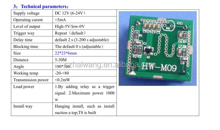 Hw M09 Outdoor Microwave Sensor Switch Original Factory