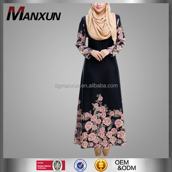 Muslim Moroccan Style Abaya Dubai Abaya Hot Sell Printing Online Embellished Stylish Maxi Dress Burqa Dress For Ladies