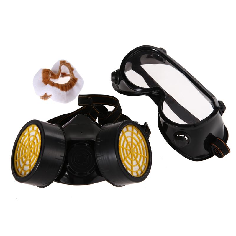 Высокое качество двойного газа фильтр краска респиратор маска очки промышленной безопасности NG4S