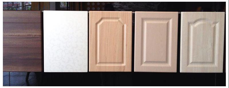 European Kitchen High Gloss Vinyl Wrap Doors Kitchen Cabinets ...