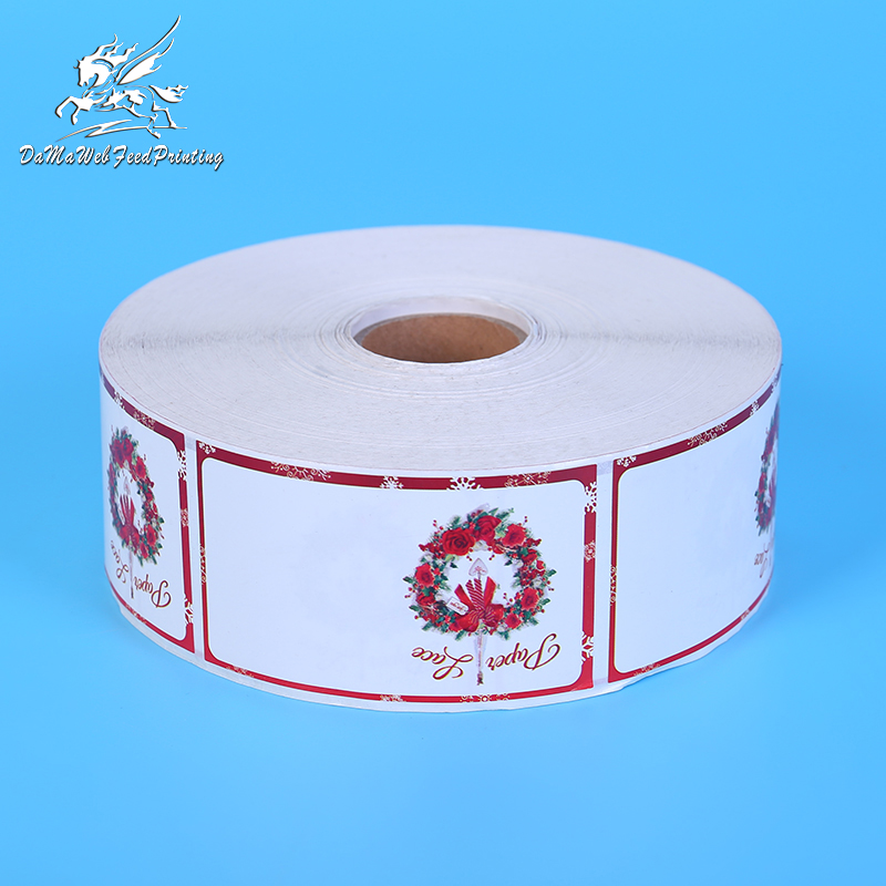 Custom Factory Direct Polypropylene Labels Sticker Roll Hot Sale Customized Promotional Paper Adhesive Sticker Labels