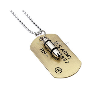 18k gold army dog tag bullet pendant necklace buy 18k gold army 18k gold army dog tag bullet pendant necklace mozeypictures Gallery