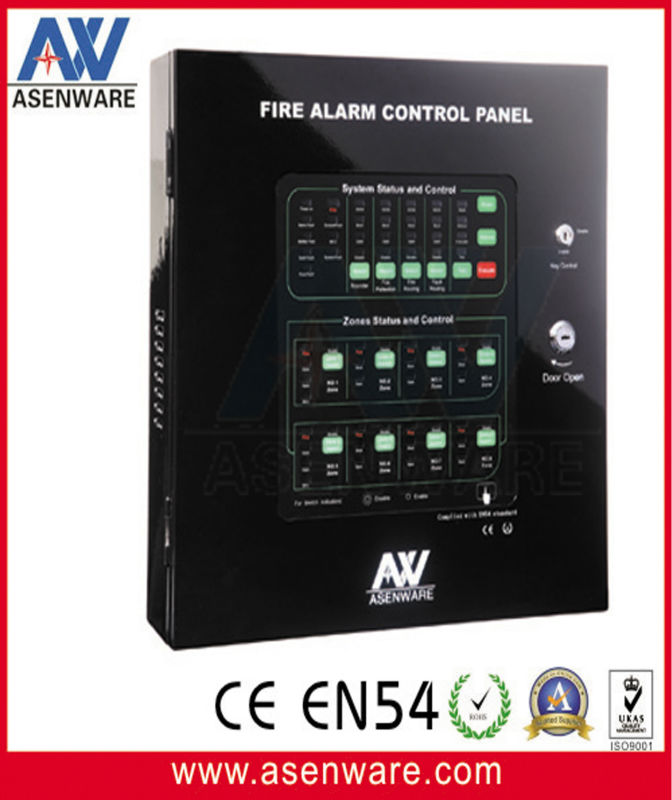 Conventional 8 zones fire alarm panel fire equipment manufacture