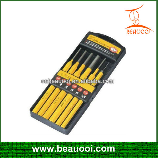 6 Piece Professional Quality Pin Punch Set