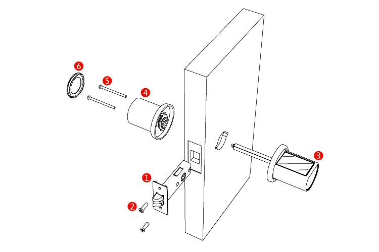 modern home keypad digital combo door lock smart password combination spring latch bolt door