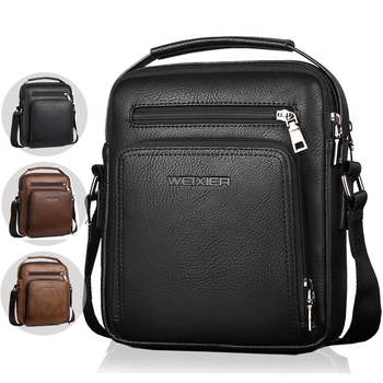 WEIXIER Men Shoulder Bags Fashion PU Leather Crossbody Bag Men Small Laptop Men Briefcase Brand Retro Travel Hand Bags