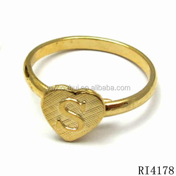 Alibaba Express Hot Zinc Alloy Gold Letter S Finger Ring Buy S