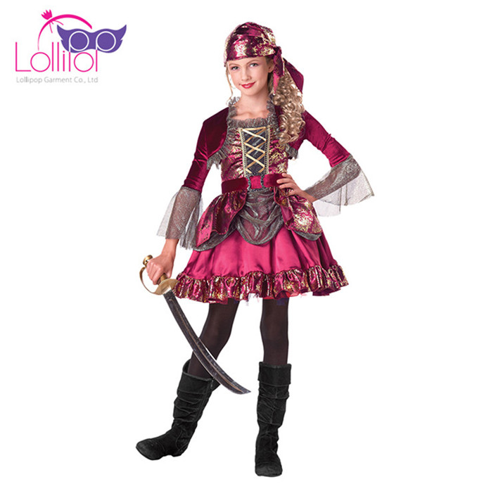China factory customized costume pirates of caribbean children