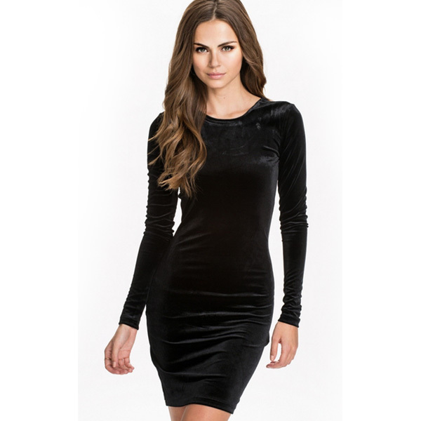 6d9b03efaa Get Quotations · Winter Black Sexy Dresses New M L Size ML18282 Bodycon  Fashion Short Mini Clubwear Low