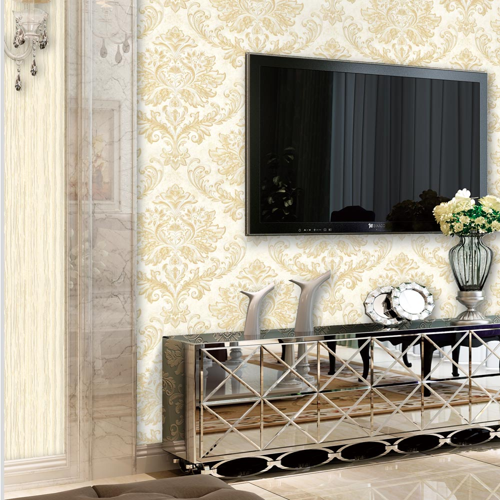 Unique Modern Floral Non-woven Sitting Room construction material wallpaper