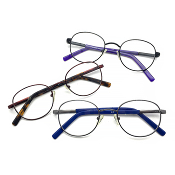 Retro Round Wholesale Designer CE Acetate Metal Men Women Optical Spectacle Glasses Frames Eyeglasses
