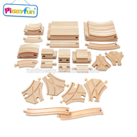 China factory wholesale 52pcs wooden train and tracks toys AT11947