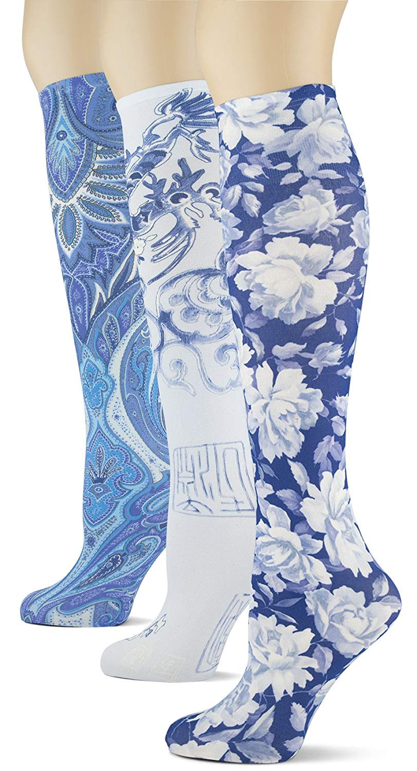 f1ac208430b Get Quotations · Knee High Trouser Socks w Colorful Printed Patterns - Made  in USA by Sox Trot