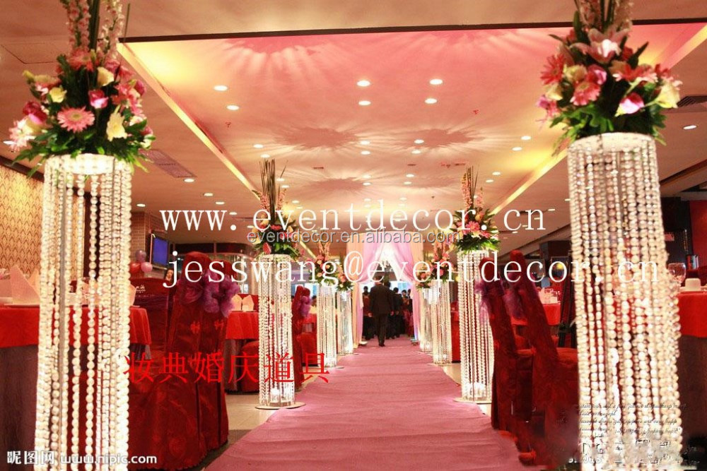 Wedding flower and pillars with led light wedding decoration walk wedding flower and pillars with led light wedding decoration walk lead road junglespirit Gallery