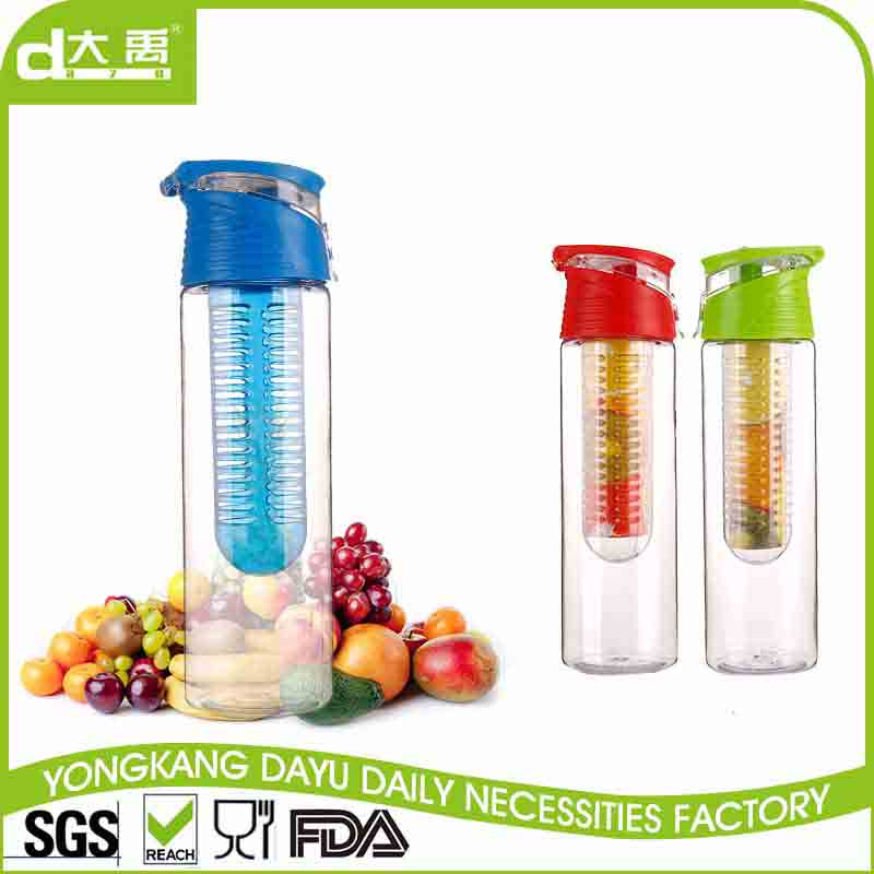 Fashionable plastic water bottle empty 250ml