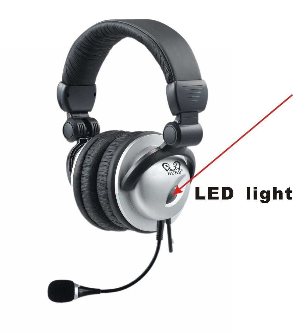 Big Led Logo Light Gaming Headset Foldable Headband Gaming Mic ...