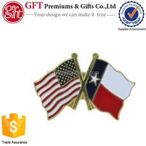 Factory Price High Quality Custom us flag texas flag lapel pin