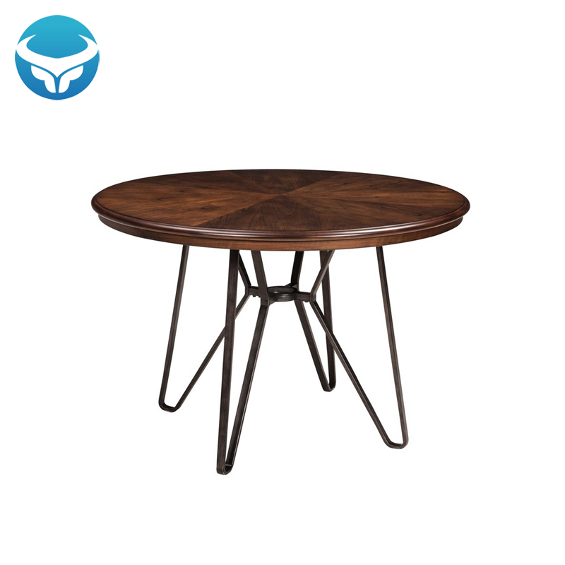 Wholesale Customized Round Antique Industrial Metal Table Legs Solid Wooden  Dining Table - Buy Solid Wooden Table,Dining Table,Table Product on ...
