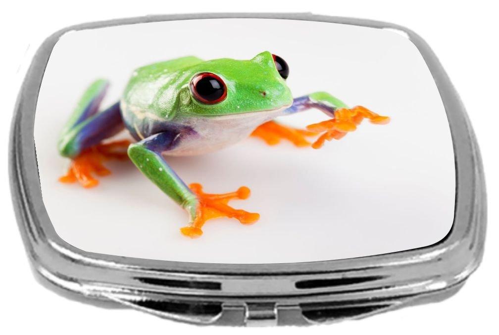 6 x 6 Rikki Knight Crazy Frog Close-Up Design Ceramic Art Tile