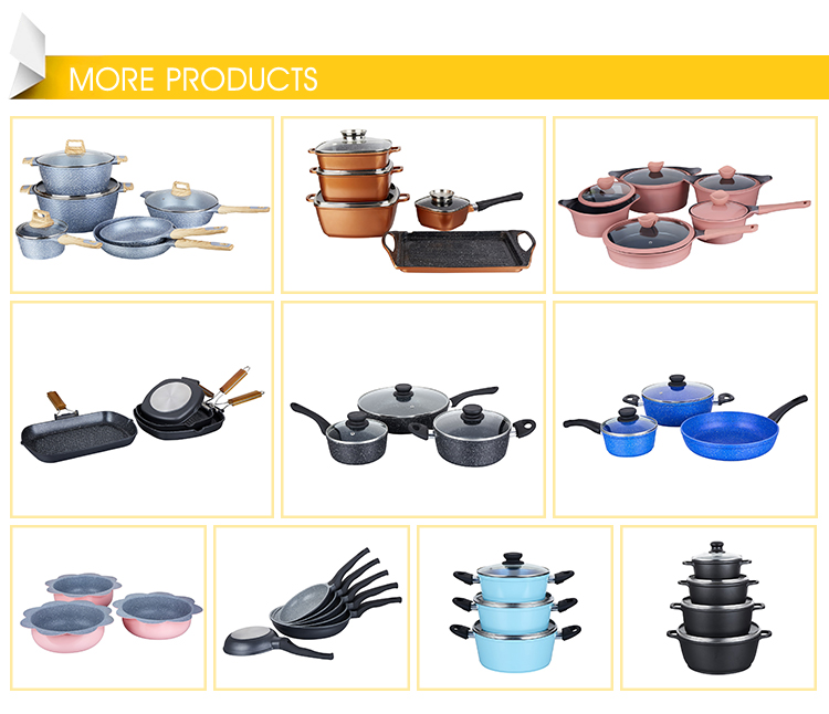 Online Shopping Aluminum Alloy Non-stick Coating Italian Die Cast Non-stick  Cookware Set