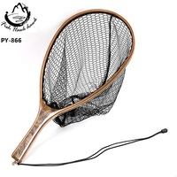 Wooden fly fishing landing nets PY-866