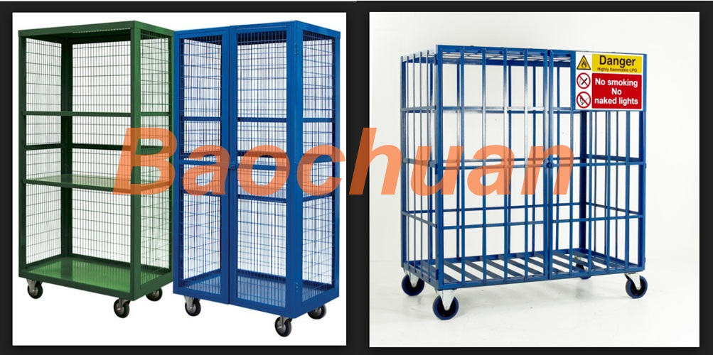 Gas bottle storage security cage