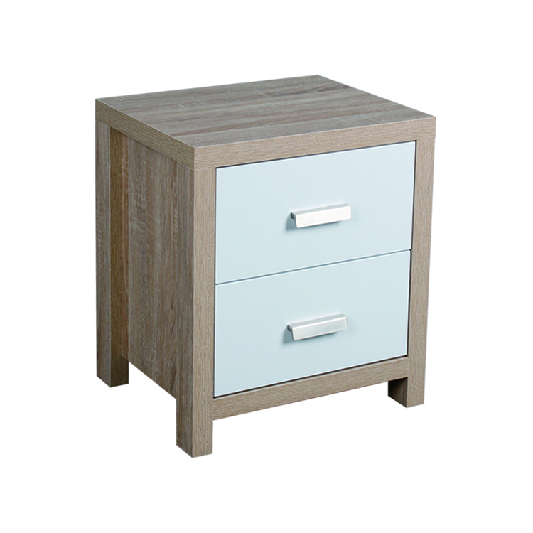 Modern bedroom furniture wooden 2 drawers night stand bedside table