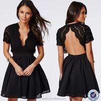 Women backless lace top skate dress wholesale clothing market
